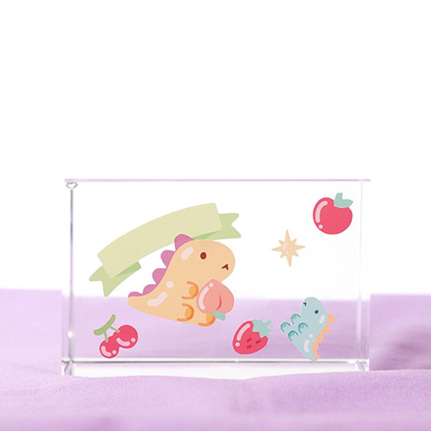 Usage example - PLEPLE Bubble dino removable decorative paper sticker