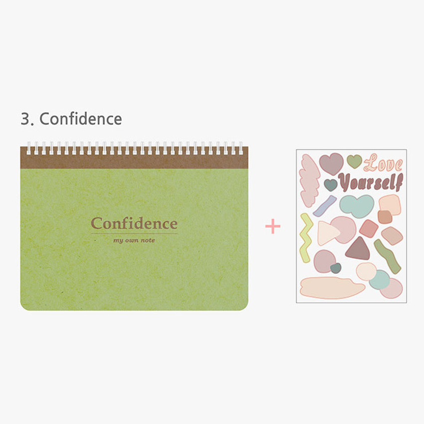 Confidence - My effective note-taking B5 spiral lined grid notebook