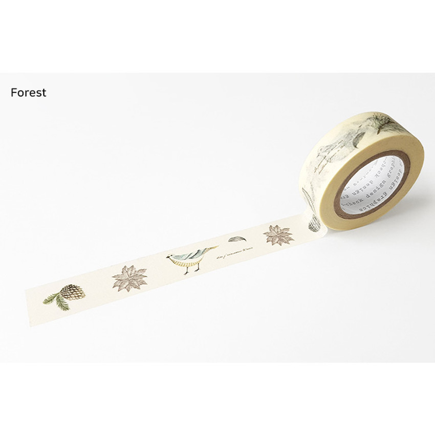 Forest - O-CHECK Vintage decorative craft 15mm X 10m masking tape