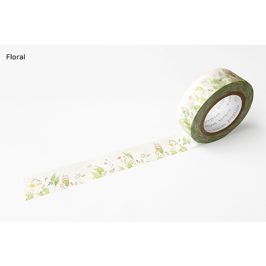 Floral - O-CHECK Vintage decorative craft 15mm X 10m masking tape
