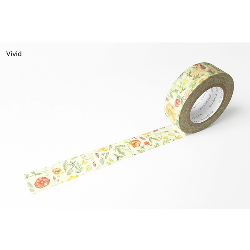 Vivid - O-CHECK Vintage decorative craft 15mm X 10m masking tape