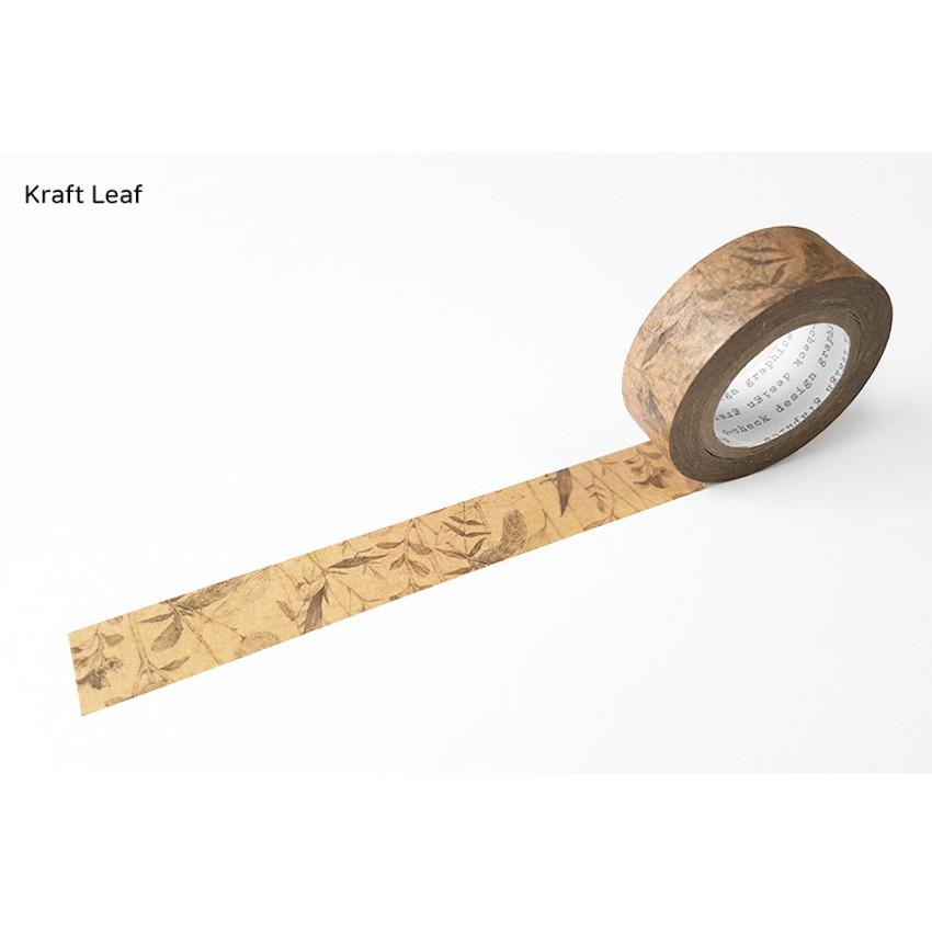 Kraft Leaf - O-CHECK Vintage decorative craft 15mm X 10m masking tape
