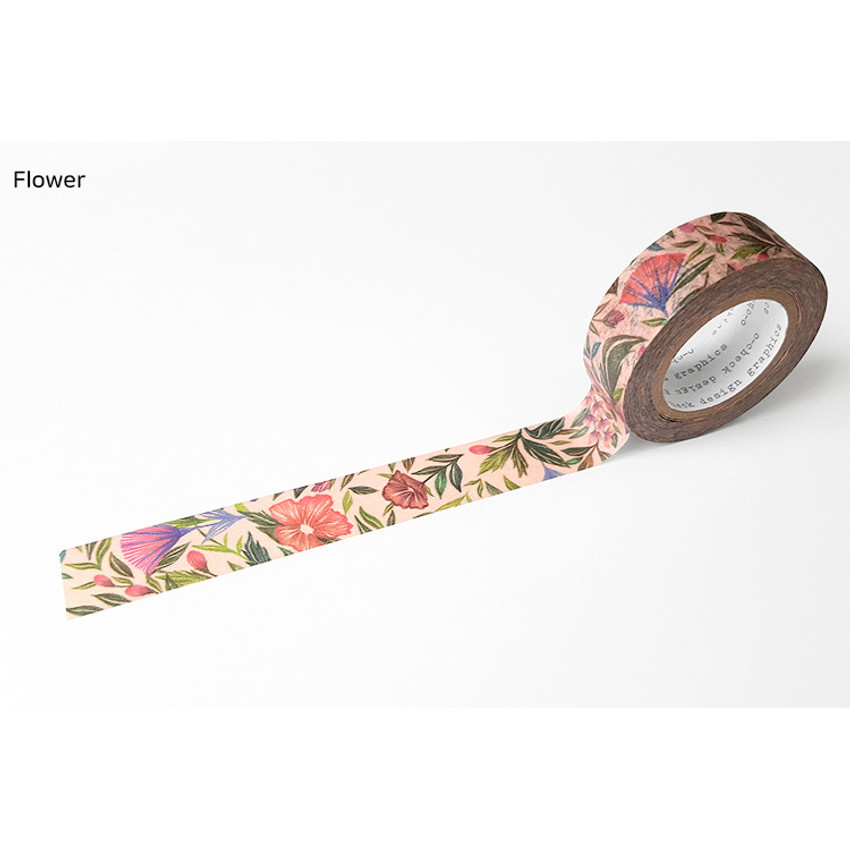 Flower - O-CHECK Vintage decorative craft 15mm X 10m masking tape