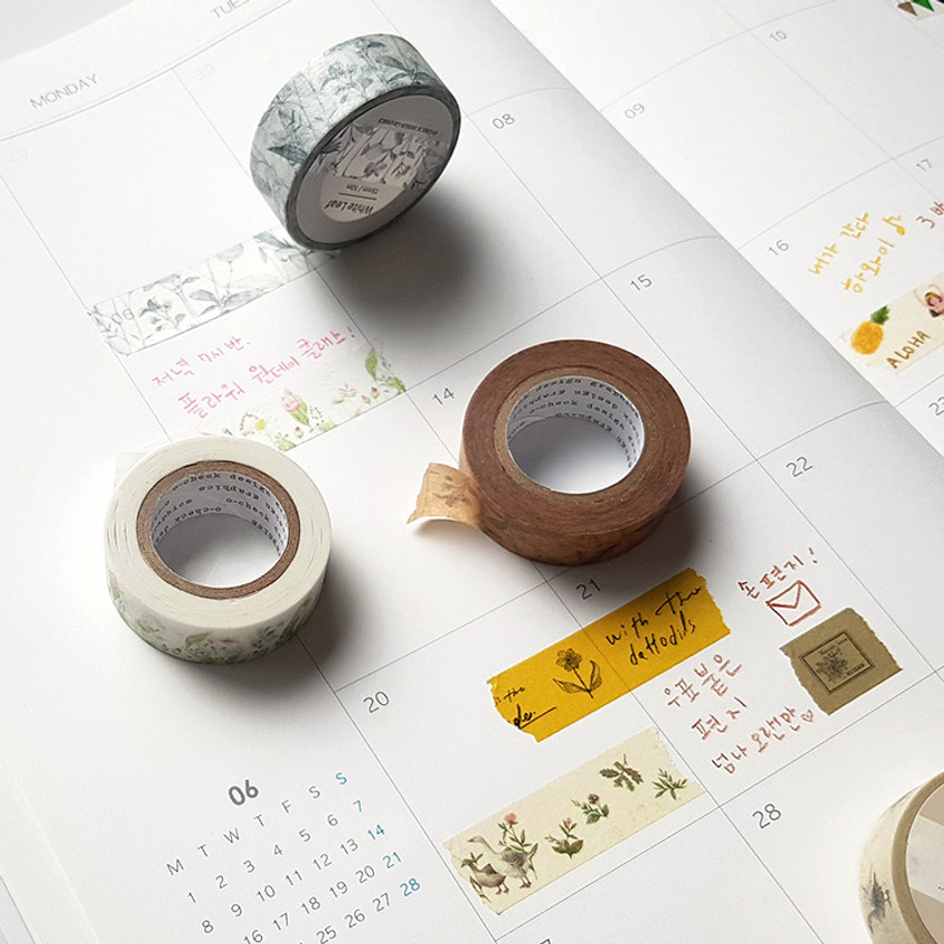 Usage example - O-CHECK Vintage decorative craft 15mm X 10m masking tape
