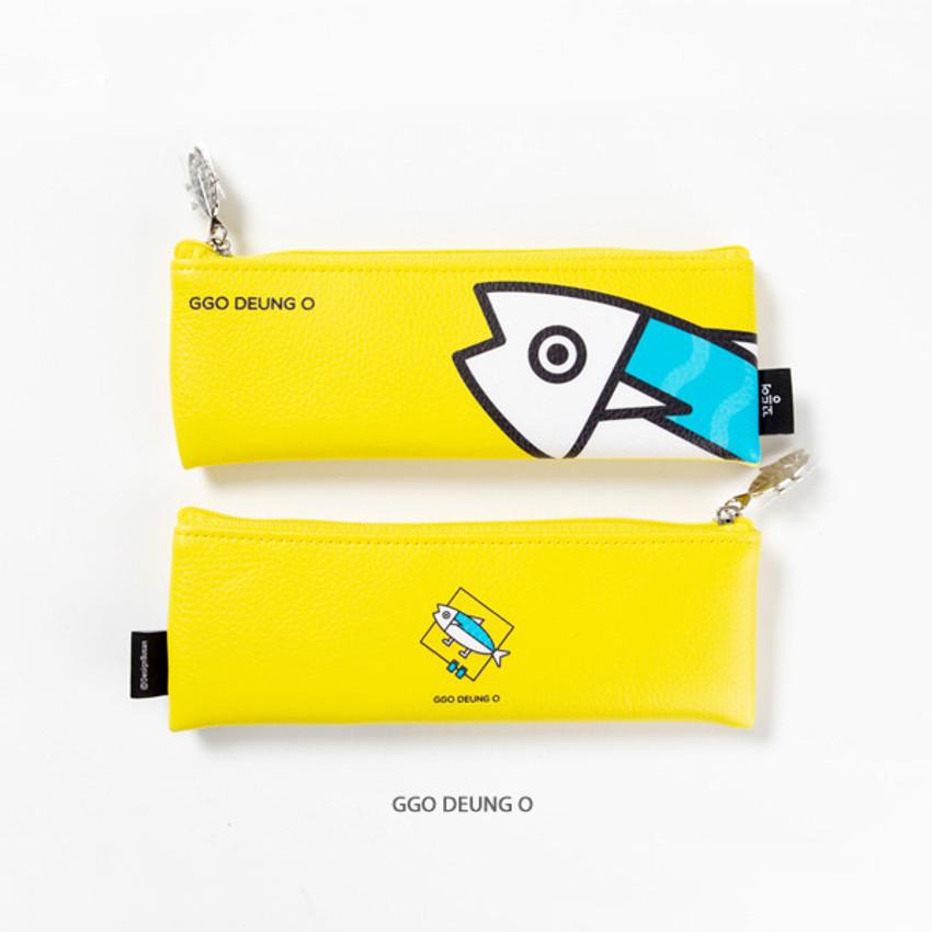 Ggo deung o - DESIGN IVY Ggo deung o friends zipper pencil case ver2