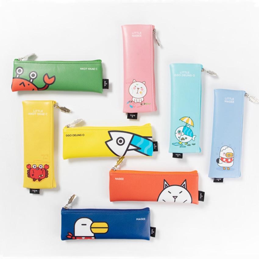 DESIGN IVY Ggo deung o friends zipper pencil case ver2