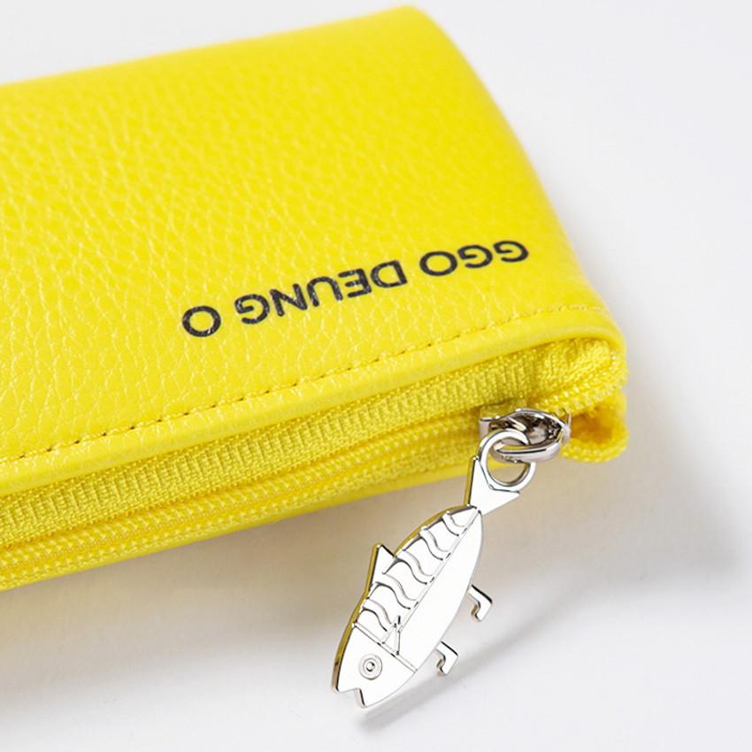 Zipper closure - DESIGN IVY Ggo deung o friends zipper pencil case ver2