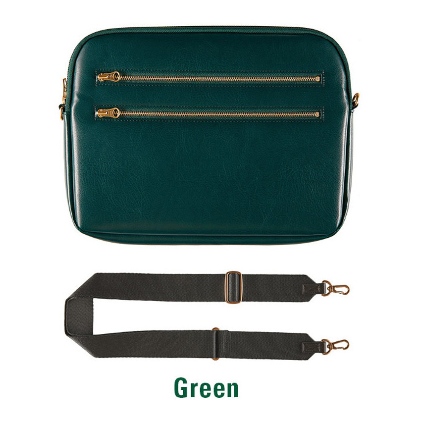 Green - Always with me iPad tablet PC sleeve case cross bag