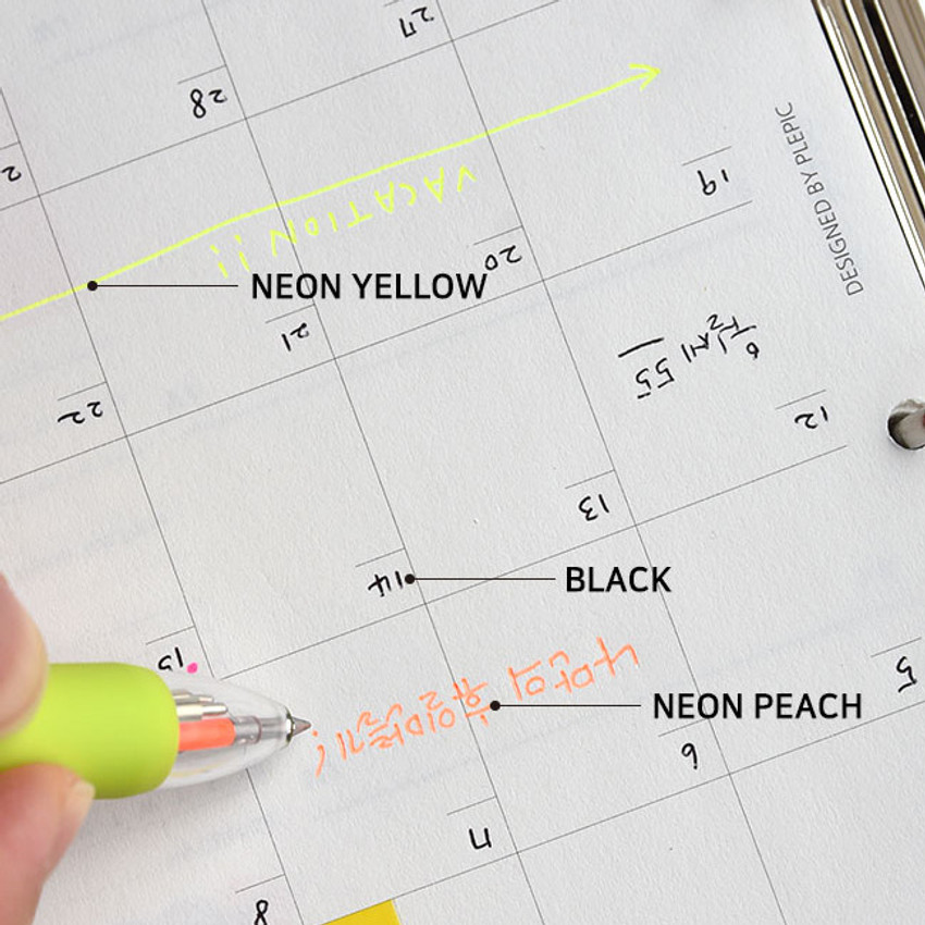 Color - Play Obje 5 ways neon and basic color multi ballpoint pen