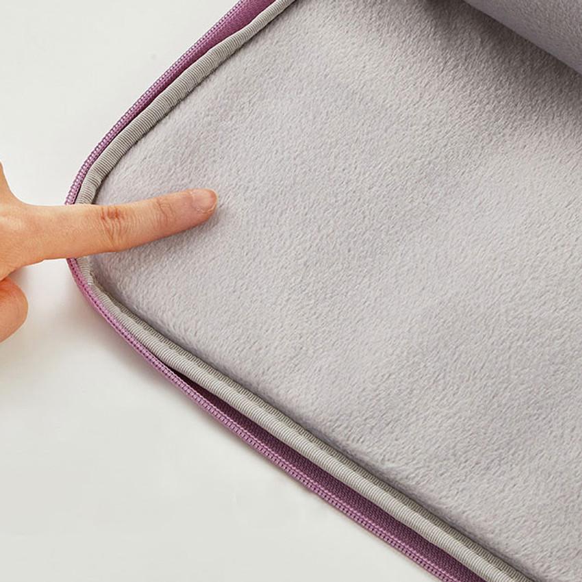 Extra cushion - Milk cat boucle canvas iPad laptop sleeve pouch case