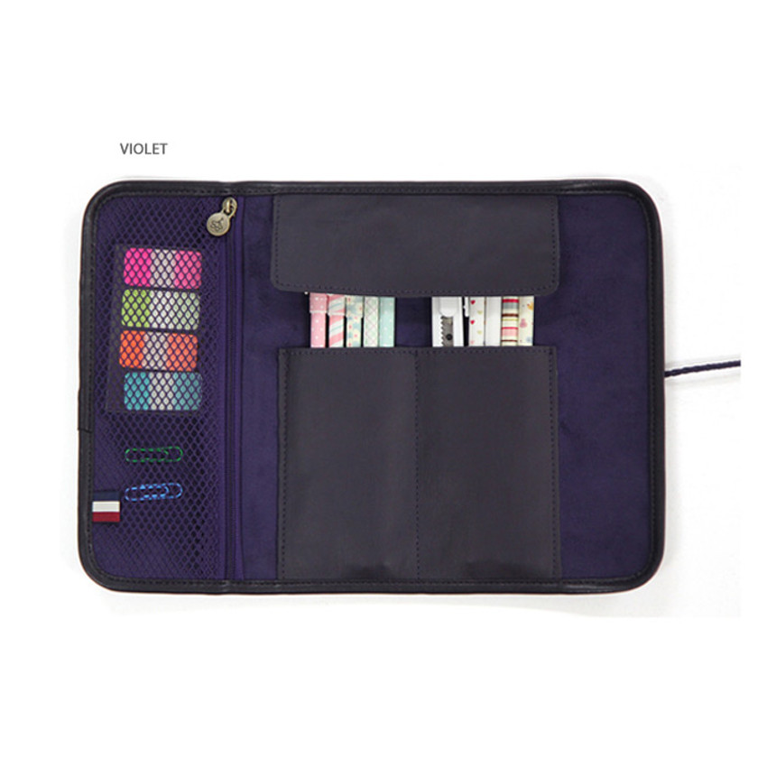 Violet - MINIBUS Dorothy & Alice roll up pencil case pouch