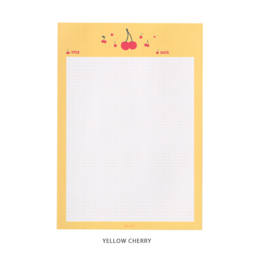 Yellow Cherry - After The Rain Twinkle B5 size grid memo notepad