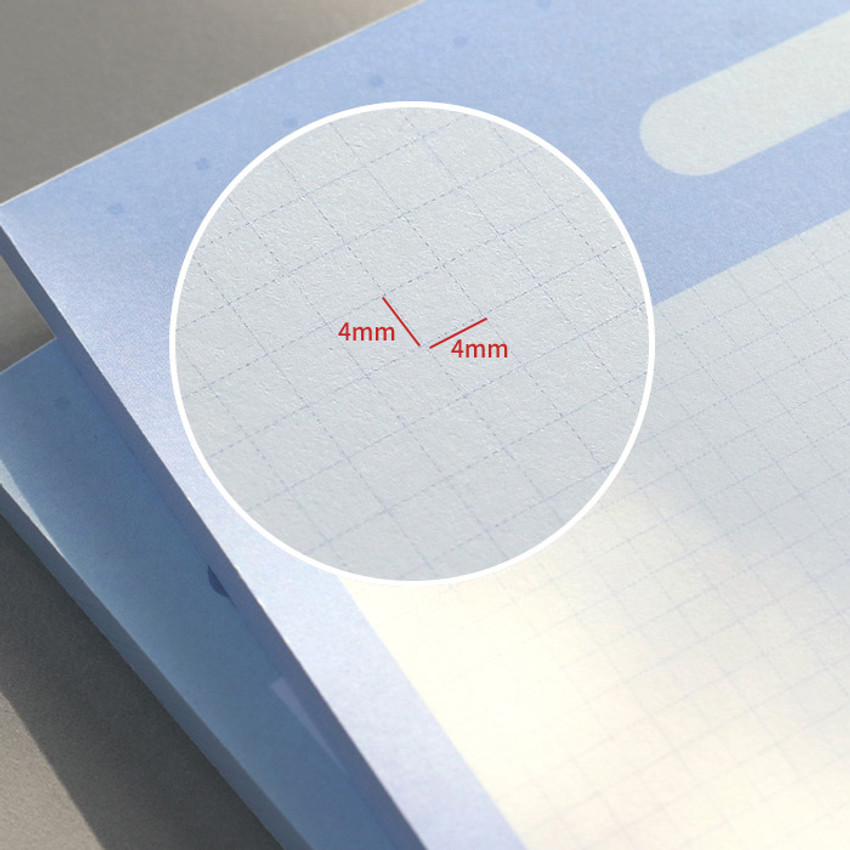 4mm graph paper - ICONIC Sweet B5 size grid notes memo notepad