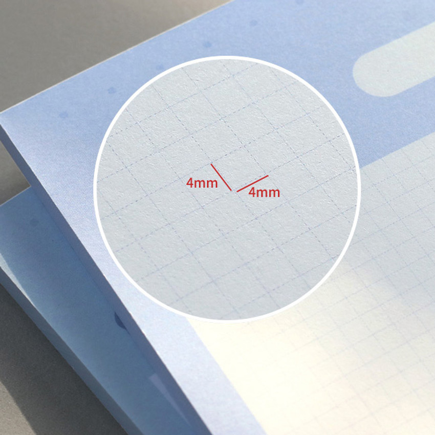 4mm grid paper - ICONIC Haru B5 size grid notes memo notepad