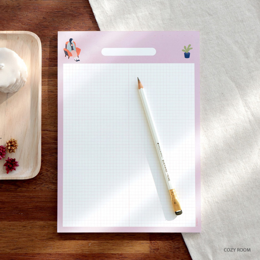 Cozy Room - ICONIC Haru B5 size grid notes memo notepad