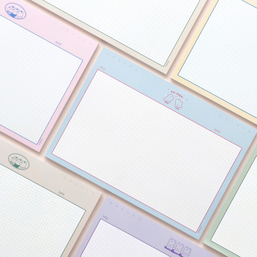 ICONIC Buddy B5 size grid notes memo notepad