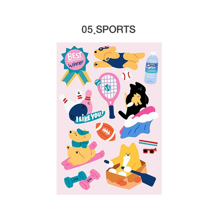 05 Sports - ICONIC Merry removable craft decoration sticker