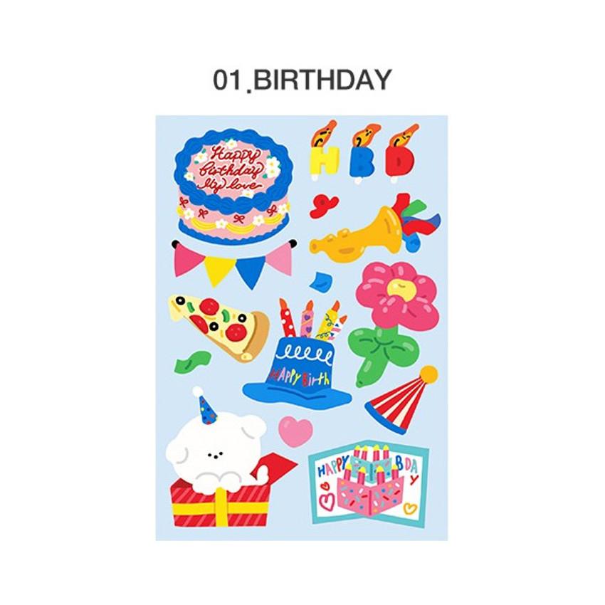 01 Birthday  - ICONIC Merry removable craft decoration sticker