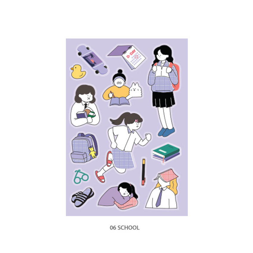 06 School - ICONIC Haru removable craft decoration sticker