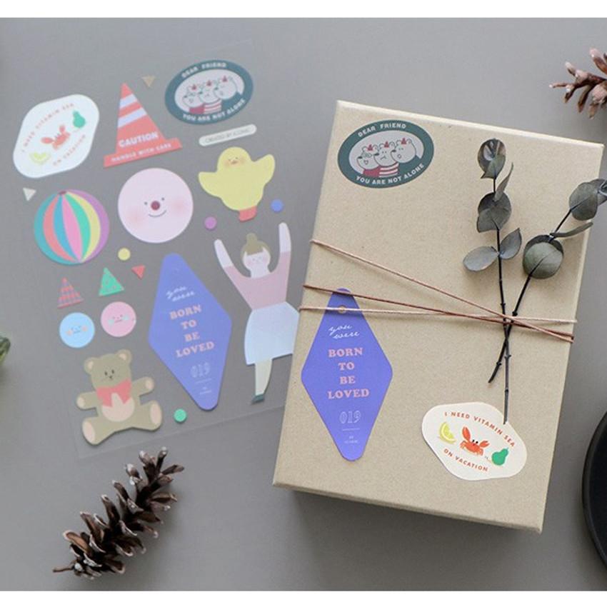 C - ICONIC Big point removable craft decoration sticker