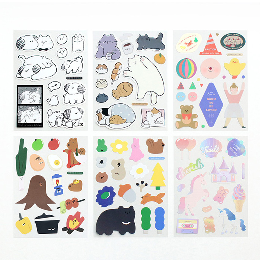 ICONIC Big point removable craft decoration sticker