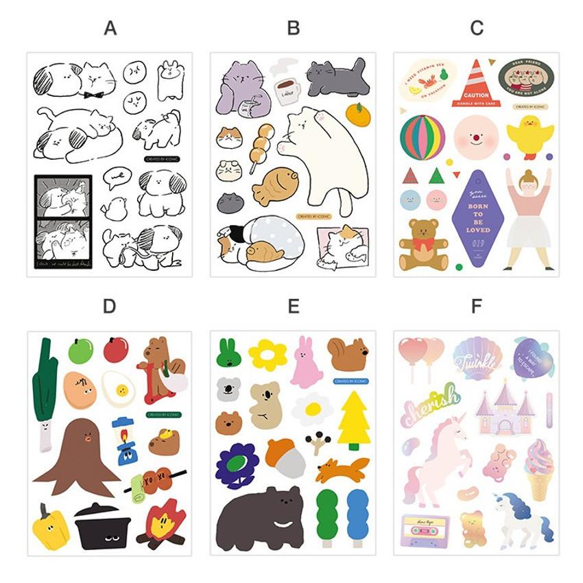 Option - ICONIC Big point removable craft decoration sticker