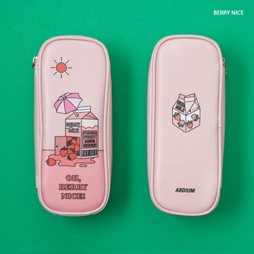Berry Nice - Ardium Color point block zip pencil case pouch