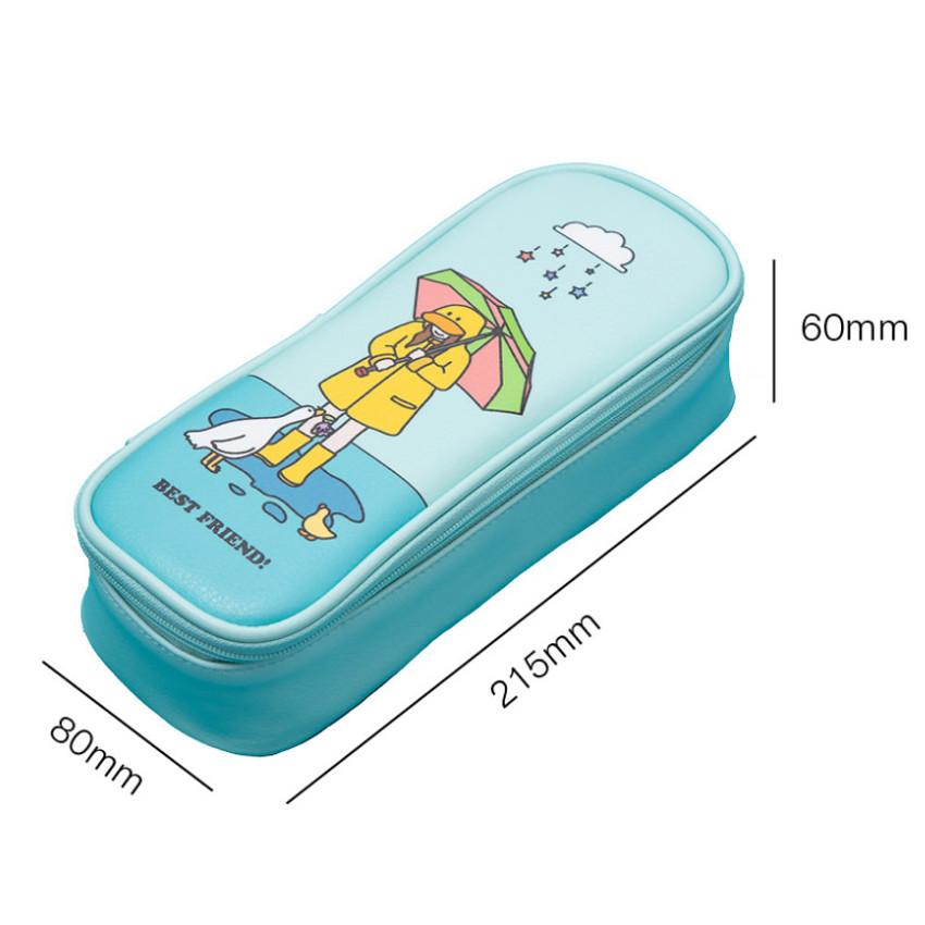 Size - Ardium Color point block zip pencil case pouch