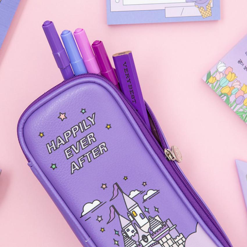 Usage example - Ardium Color point block zip pencil case pouch