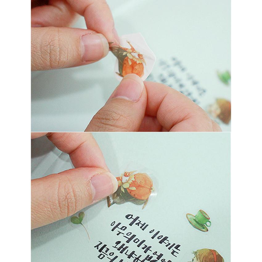 Clear sticker - Indigo Alice self-cut clear sticker