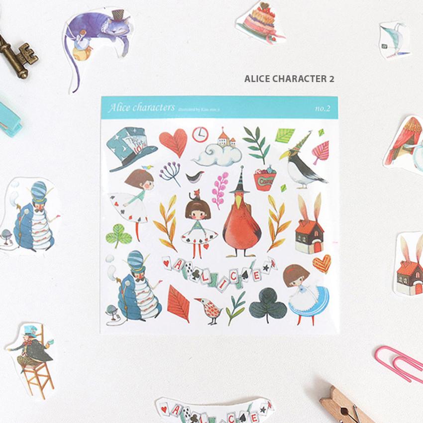 Alice character 2 - Indigo Alice self-cut clear sticker