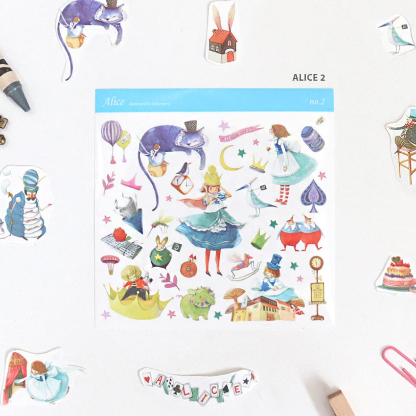 Alice 2 - Indigo Alice self-cut clear sticker