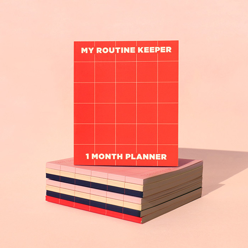 My routine keeper 1 month dateless weekly planner scheduler