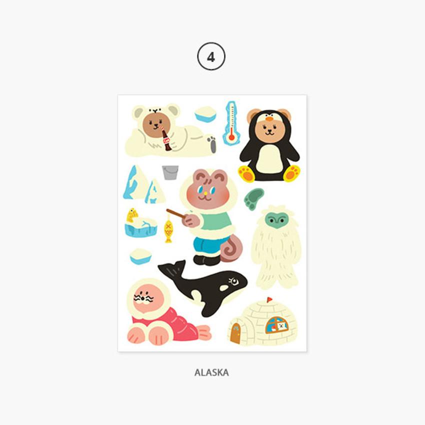 04 Alaska - Project country my juicy bear removable sticker