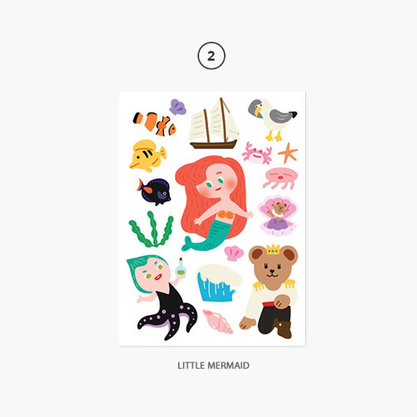 02 Little Mermaid - Project fairy tale my juicy bear removable sticker