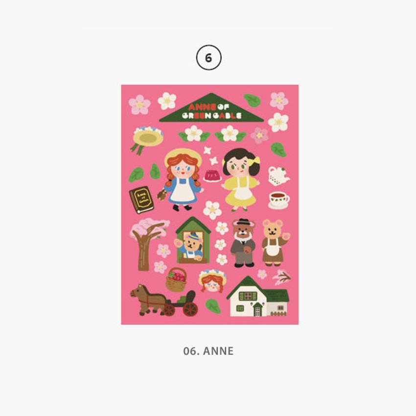06 Anne - Project fairy tale my juicy bear removable sticker