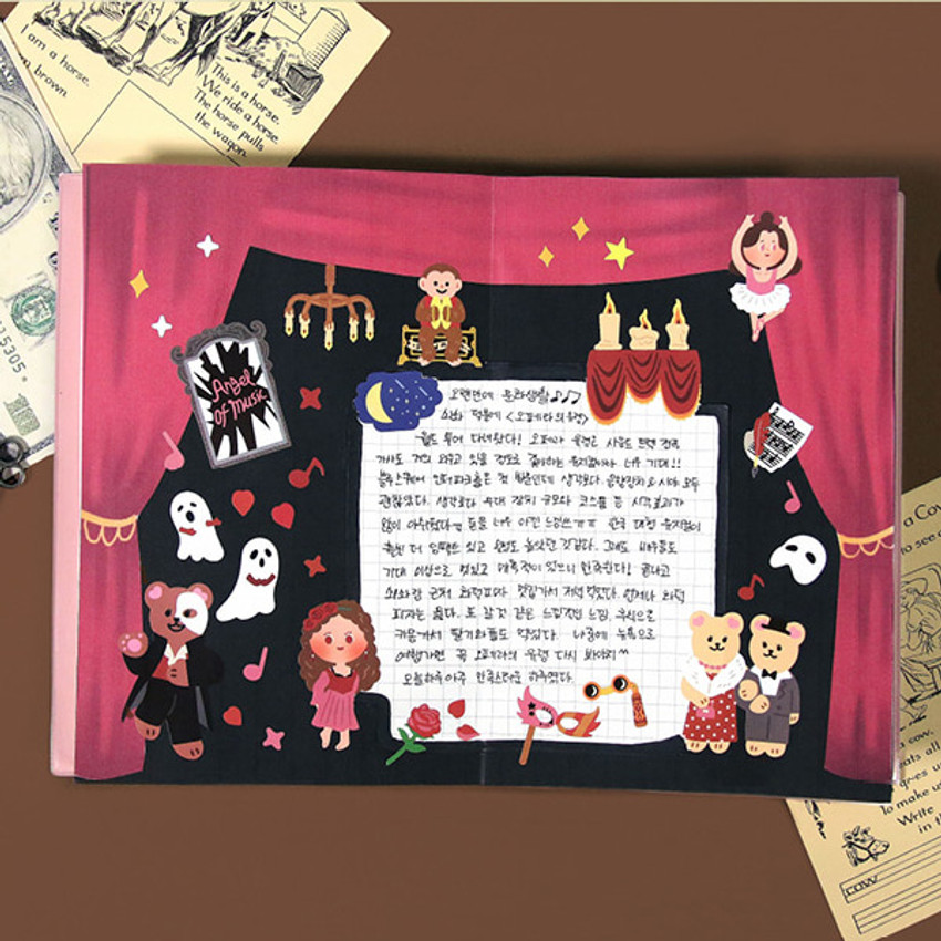 Usage example - Project fairy tale my juicy bear removable sticker