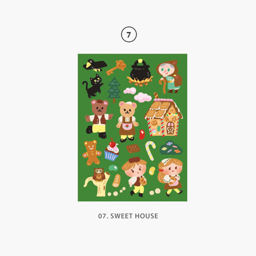 07 Sweet House - Project fairy tale my juicy bear removable sticker