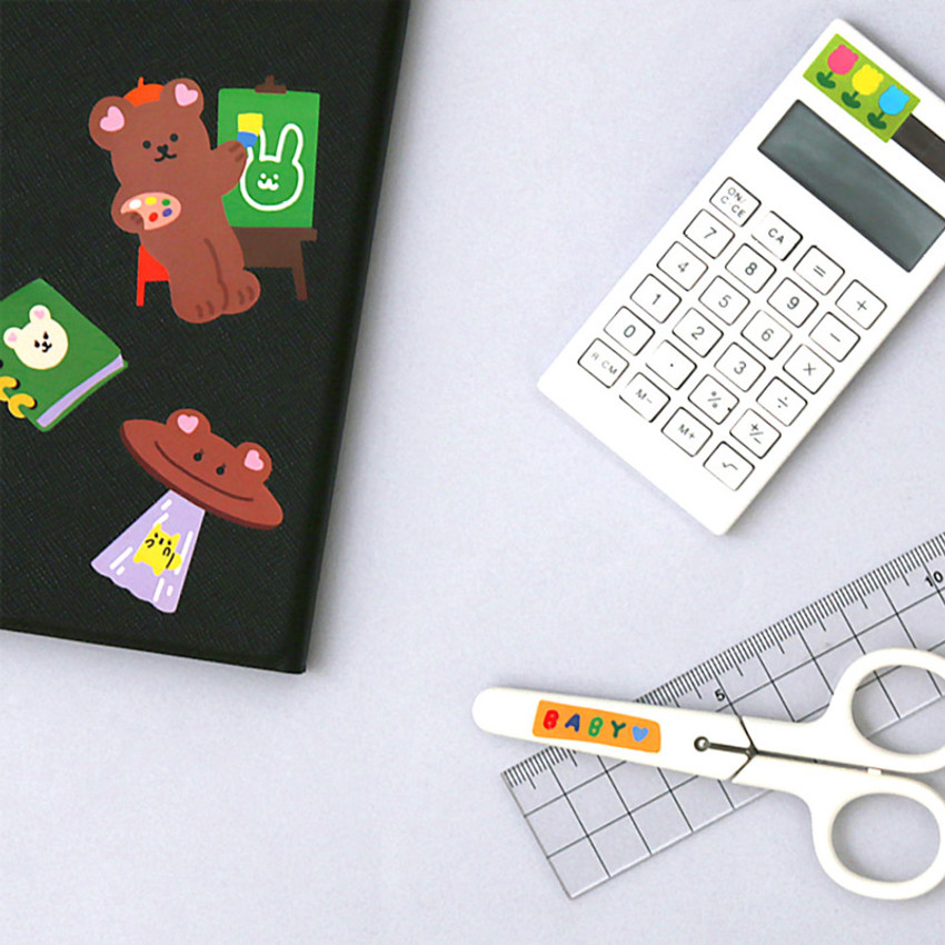 Usage example - Project basic my juicy bear removable sticker