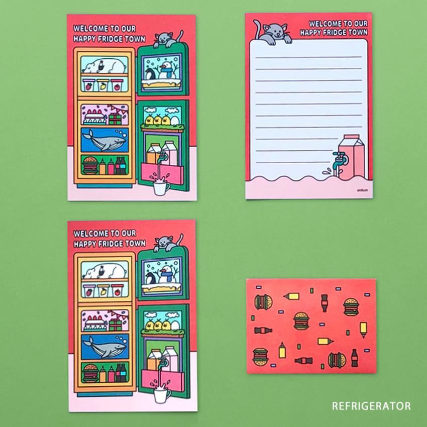 REFRIGERATOR - Ardium Color point mini letter envelope set