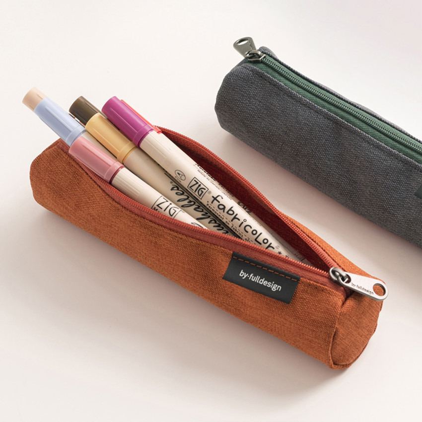 Store up to 10 pens - Byfulldesign Tiny but Big tube zipper pencil case