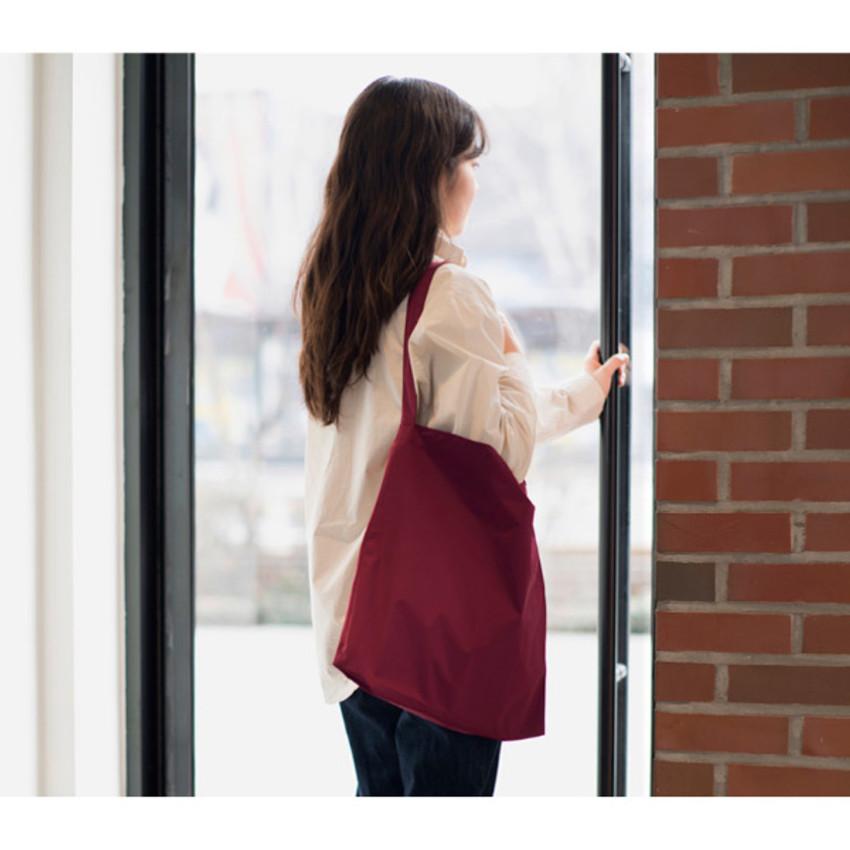 Burgundy - Byfulldesign Light daily large shoulder bag