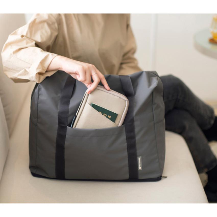 Beige - Byfulldesign Travelus handy pocket travel organizer bag ver5