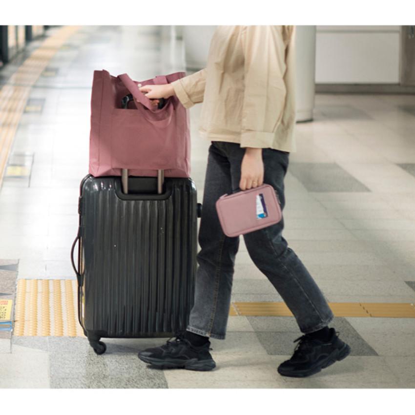 Pink - Byfulldesign Travelus handy pocket travel organizer bag ver5