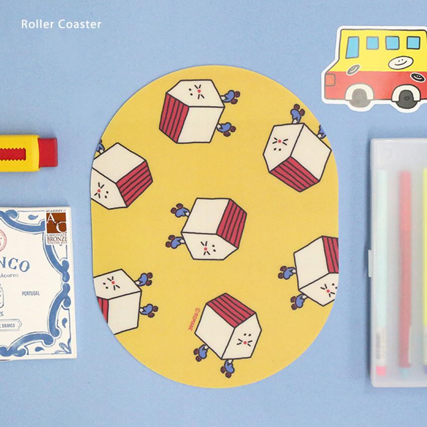 Roller Coaster - ROMANE Donat Donat desk mouse pad