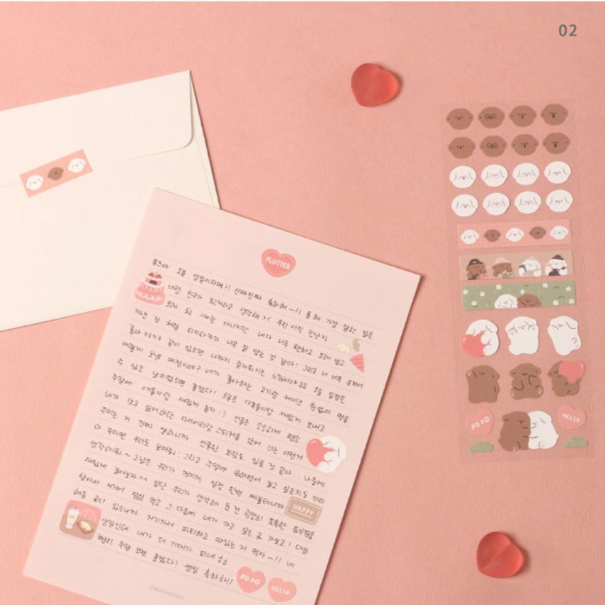 02 - Dash And Dot Mongle Mongle removable sticker seal