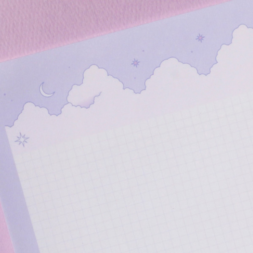 Cloud and Mountain B5 size grid notes memo notepad
