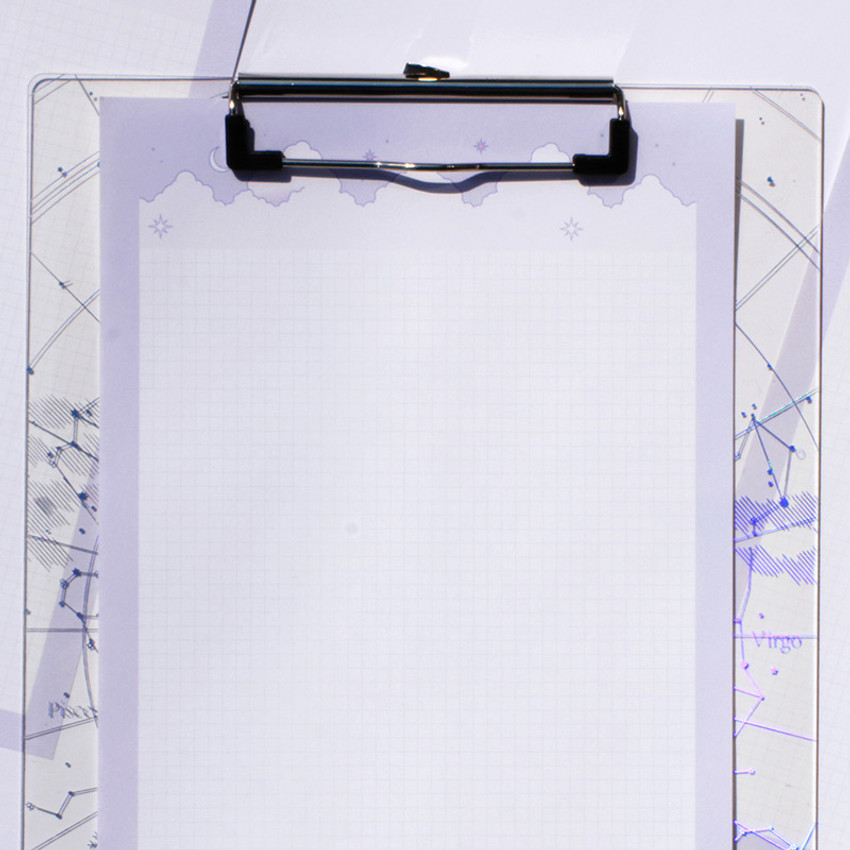Usage example - Cloud and Mountain B5 size grid notes memo notepad