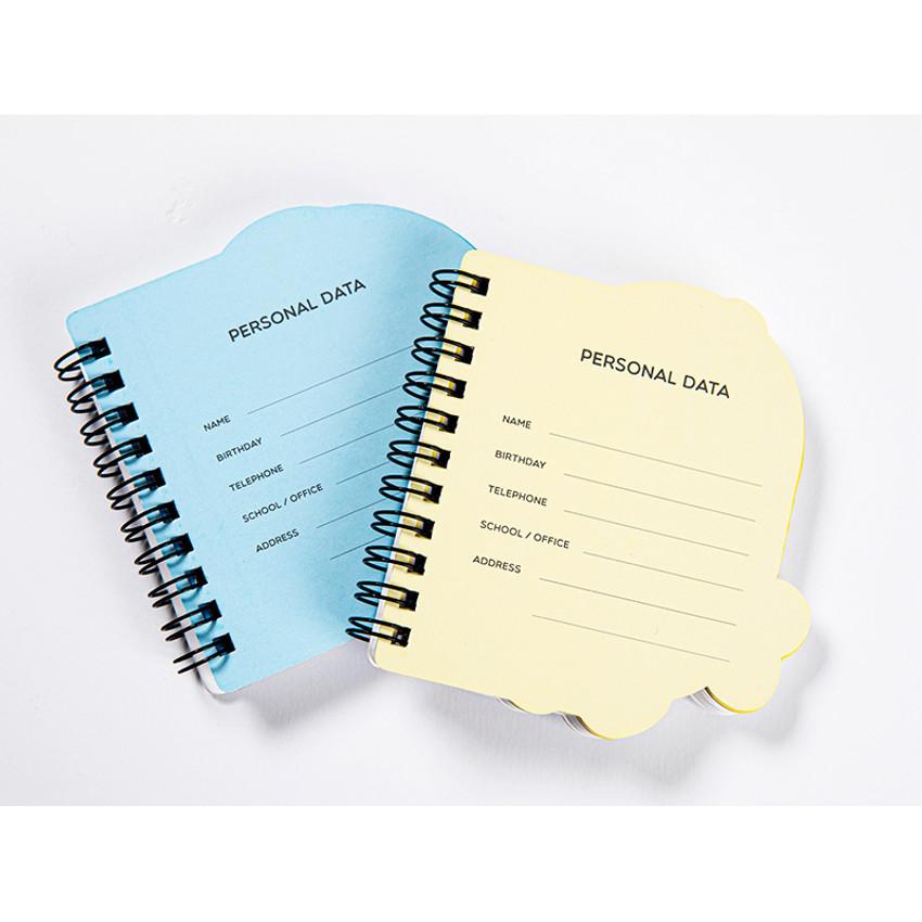 Personal data - DESIGN IVY Ggo deung o spiral bound blank notepad