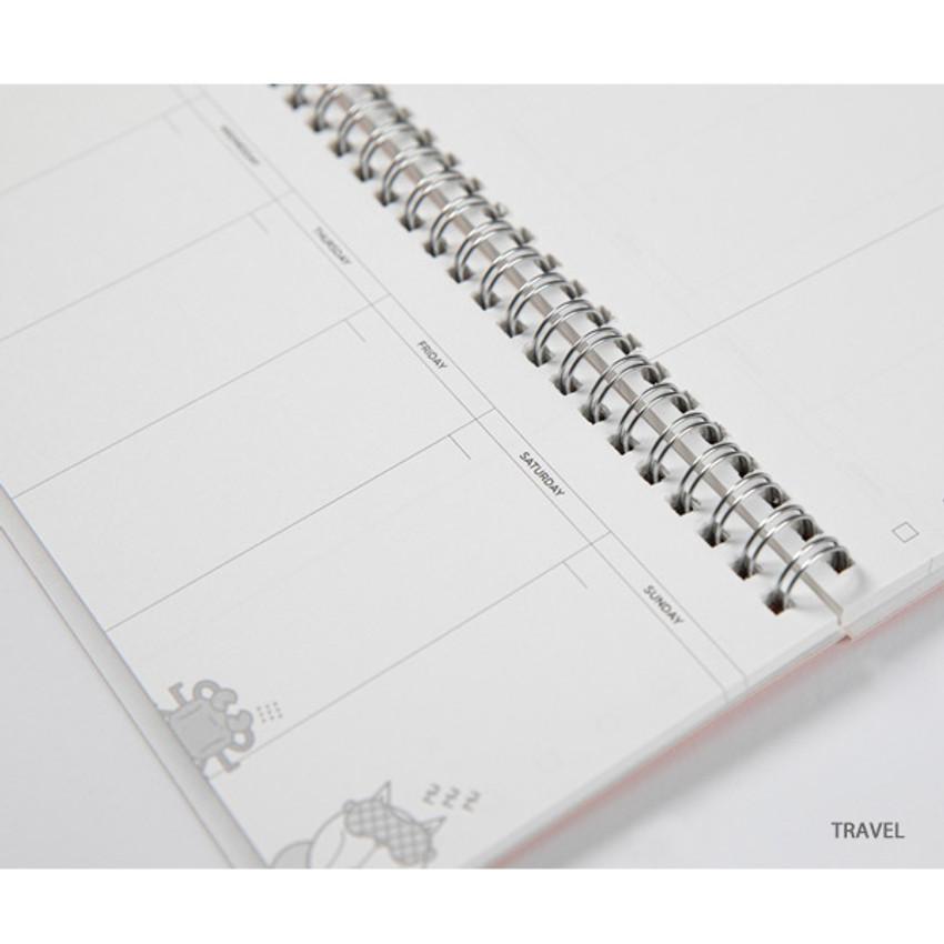 Travel - DESIGN IVY Ggo deung o spiral dateless weekly desk planner
